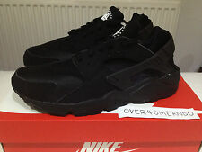 "NEW NIKE AIR HUARACHE LE ""TRIPLE BLACK"" UK 6 7 8 9 10 11 12 OG #318429-003"