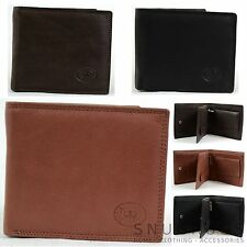 Men's Matt Finish Nappa Leather Bi-Fold Wallet