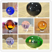 Vintage 100mm Art Magic Crystal Healing Ball Sphere With Crystal Stand Gifts Hot
