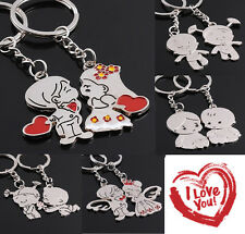 New Boy and Girl GIft Romantic Creative Lover Gift Keychain Couple Keyring