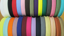 BIAS BINDING TAPE 25MM 1 INCH  COTTON 1 METRE OR FULL 50M ROLLS VARIOUS COLOURS