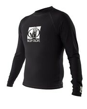 Body Glove Mens Long Sleeve Wetsuit Rash Vest - Black - Sizes S, M, L, XL, XXL
