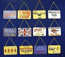 Retro Metal Kitchen Signs Wall Hanging Sign Vintage Shabby Chic Plaques New Gift