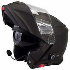 Casco Bluetooth Moto VIPER V171 Casco Modulare Touring Flip up sport, Nero Opaco