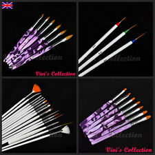 3/6/7/15 Pcs Nail Art Brush Set Nail Tips Uv Gel Painting Drawing Pen Brushes