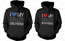 Couples Hoodies - Adorable Matching Clothes I Love My Crazy Boyfriend Girlfriend