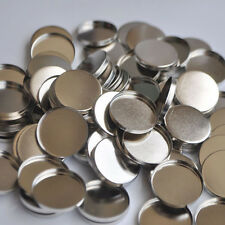12 100pcs Empty Round Tin Pan DIY Refill Eyeshadow Responsive to Magnets 26mm