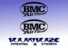 ADHESIVO PEGATINA STICKER AUTOCOLLANT ADESIVI AUFKLEBER DECAL X2  BMC AIR FILTER