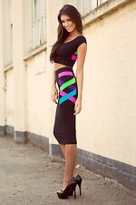 Ladies Sexy Bodycon Dress Party Cocktail Skirt Dresses Size 10 12 14
