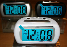 ACCTIM AURIC BATTERY ALARM CLOCK WITH LCD DISPLAY /BLUE BACKLIGHT SNOOZE