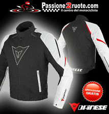 Giacca Dainese Laguna Seca d-dry nero bianco rosso black white red wp jacket