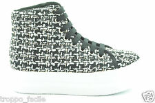 a14 Jc Play by Jeffrey Campbell scarpe donna sneakers con piattaforma HOMG TWEED