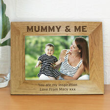 Personalised Engraved MUMMY & ME Photo Frames - Mothers Day, Birthday Gift