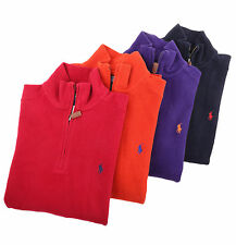 Ralph Lauren Polo Men 1/2 Half Zip Mock Neck Sweat Shirt Sweater - Free $0 Ship