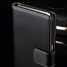 Genuine Leather Wallet Book Flip KickStand Case Cover HTC One M8