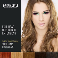 Full Head Clip In Real Remy Human Hair Extensions