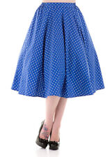 Vintage Style 40's 50's Full Circle Cotton Rockabilly Jive Swing Skirt New 8-20