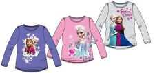 New Girls Official Disney Frozen Long Sleeved T Shirt  Age 3-8  Years