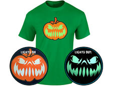 Grinning Jack Glow In The Dark Pumpkin Mens Halloween T-Shirt (12 Colours)
