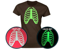 Rib Cage Glow In The Dark Womens Halloween T-Shirt (12 Colours)