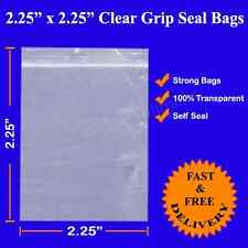 Grip Seal Resealable Self Seal Clear Polythene Plastic Bags 2.25x2.25  Cheapest