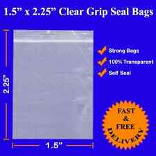 Grip Seal Resealable Self Seal Clear Polythene Plastic Bags 1.5x2.5  Cheapest!!!