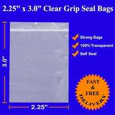 Grip Seal Resealable Self Seal Clear Polythene Plastic Bags 2.25 X 3 Cheapest!!!