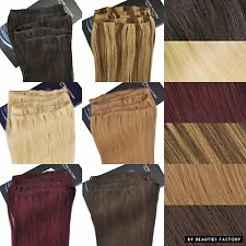 """Professional 20"""" Non Clip In Remy Human Hair Extensions Full Head - NEW"""