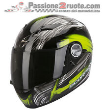 Casco Scorpion Exo 500 air Ewok Nero Verde integrale moto