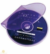 Clear Purple Clam Shell Plastic High Quality Single Case CD DVD Disk Storage