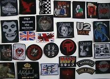 Band Patches patch pistols rock punk acdc bullet roses misfits metal maiden emo