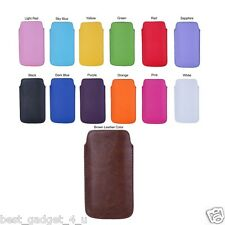 PU LEATHER POUCH CASE COVER WITH MAGNETIC STRAP / PULL TAB FOR YOUR MOBILE PHONE