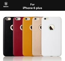 Baseus Thin Case Ultra Slim Faux Leather Cover Case for Apple iPhone 6 Plus
