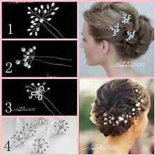 Bridal wedding crystal pearl hand wired beadhair accessories pin wedding party