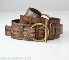 OPIKA Ladies 100% Genuine/Real Leather Waist Belt - BROWN Choose Size