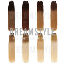 Dip Dye Ombre Clip in Remy Human Hair Extensions Full Head & Half Head