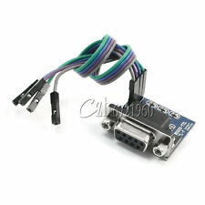 MAX3232 RS232 Serial Port To TTL Converter Module DB9 Connector W/ 4 Jump Cables
