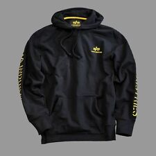 Alpha Industries - Track II Hoody - black/yellow