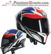 Helmet Agv k-5 Roadracer white red blu casque integralhelm fiberglass carbon