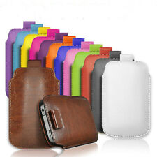 PULL TAB PU LEATHER POUCH  COVER CASE *only* fits  Nokia 105, Nokia 130