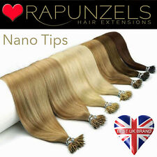 "20"" Nano ring tip remy human hair extensions 1 gram hair for use with nano beads"