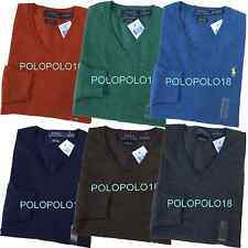 New Polo Ralph Lauren Pony Italy Merino Wool V Neck Sweater Custom S M L XL 2XL