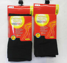 LADIES THICK BLACK THERMAL REDTAG TIGHTS 41B261 FOOTLESS TIGHTS 41B262 TOG .45
