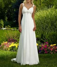White/Ivory Wedding Bridesmaid Dress Bridal Gown size 6 8 10 12 14 16 Or Custom