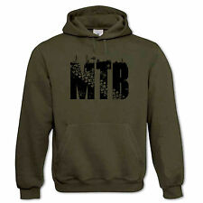 MTB Mountain Bike Cycling Down Hill Trails XC Freeride Bicycle Mens Hoodie