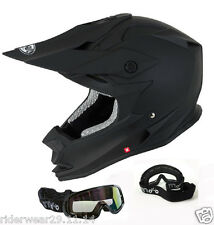 VCAN V321 MX Casco Moto Quad Casco da corsa Motocross Racing scooter + occhiali