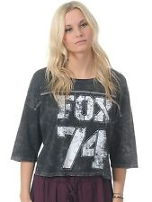 Fox Black Kickoff Womens Crop Top