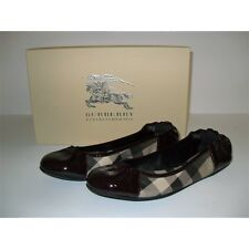 BURBERRY BALLERINE SMOKED CHECK  SCARPE DONNA SHOES