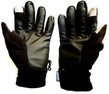 MENS TOUCH SCREEN IPHONE GLOVES black fleece waterproof windproof breathable