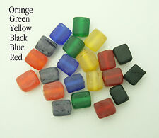 100 Frosted Indian Glass Cube Beads For Jewellery Making 8mm